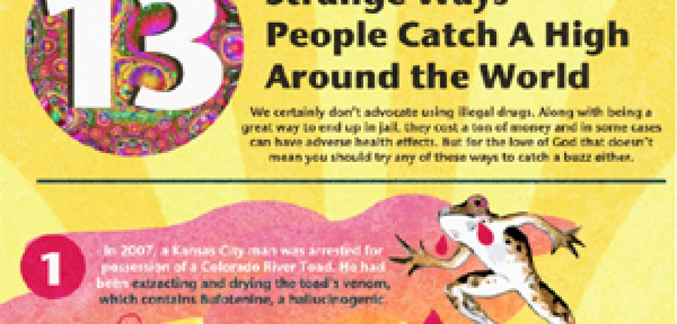 13 Strange Ways People Catch A High Around the World