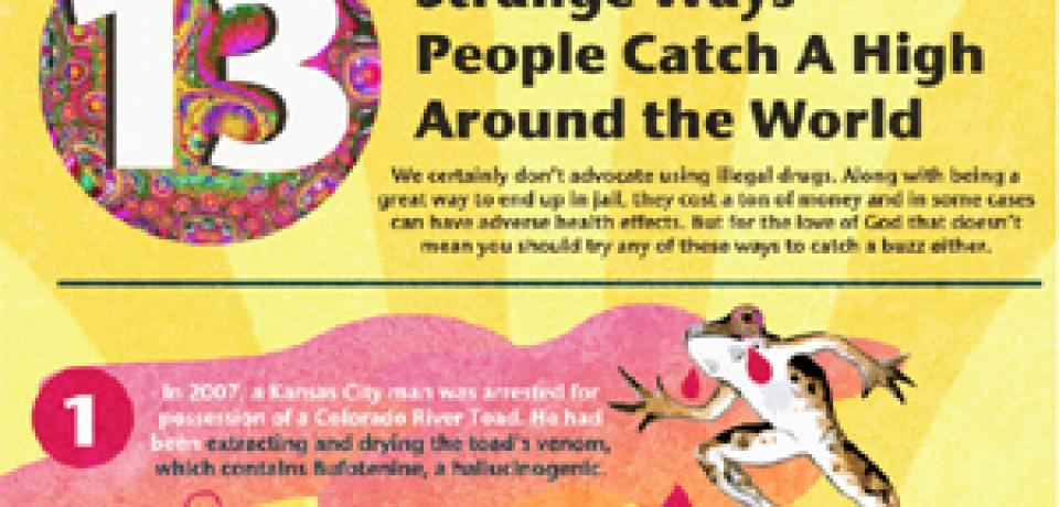 13 Strange Ways People Catch A High Around the World