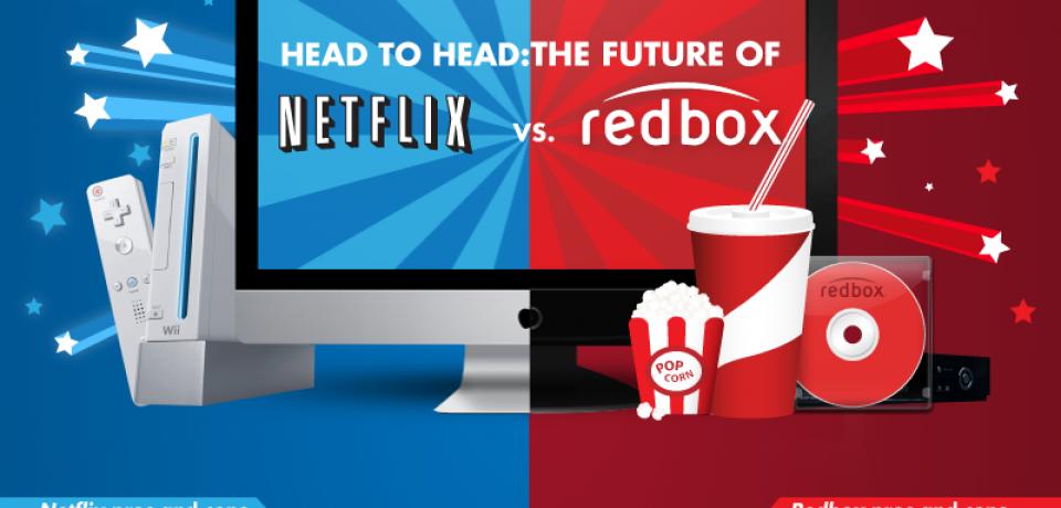 Netflix versus Redbox: Head to Head [Infographic]