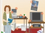 The Techie Dorm Room - Then and Now (Infographic)