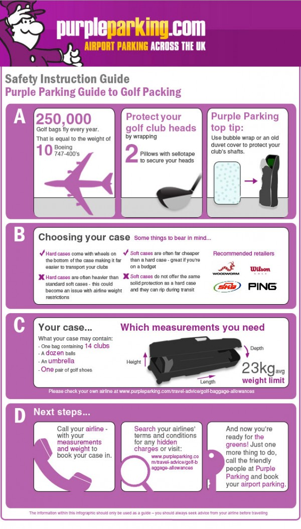 Guide to Golf Packing [Infographic]