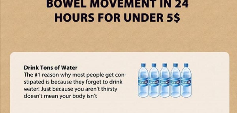 4 Ways to Produce a Bowel Movement in 24 Hours for Under $5