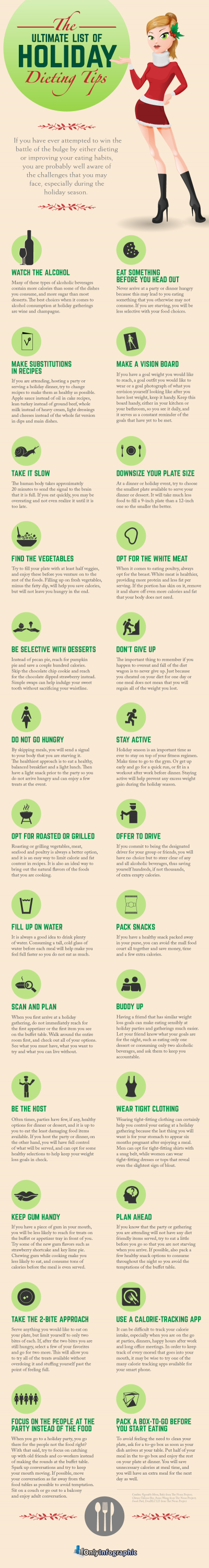 26 Holiday Dieting Tips That Will Keep You Food Coma Free [Infographic]