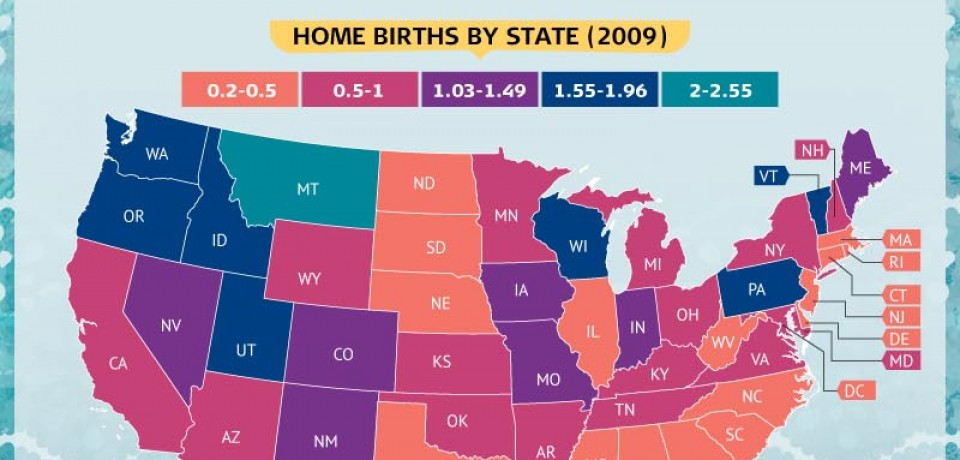 Stay at Home Moms: Why More Women Are Forgoing the Hospital When Baby Comes [Infographic]