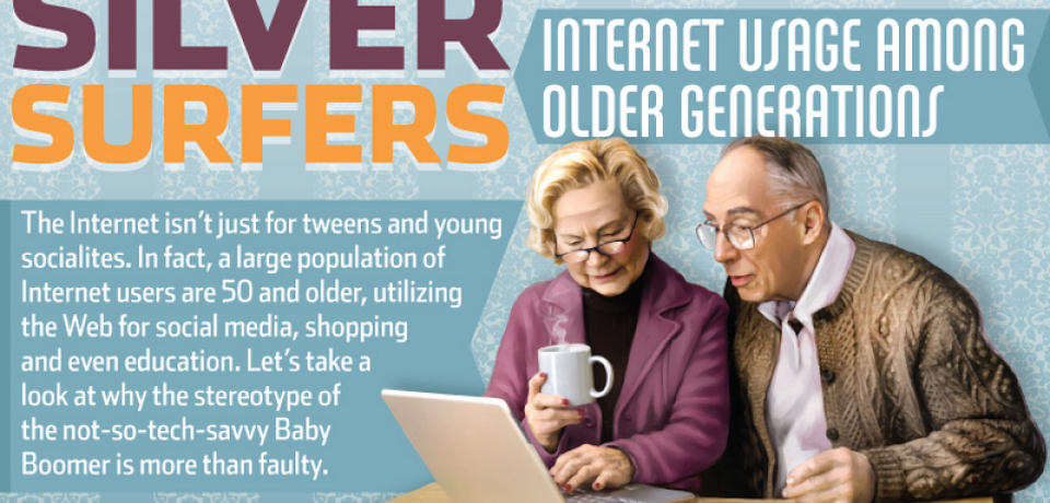 Silver Surfers: Internet Usage among Older Generations [Infographic]