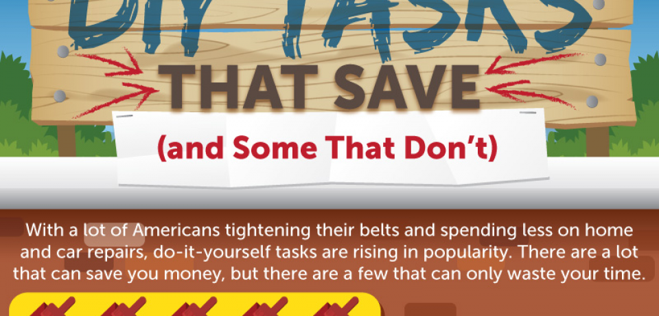 DIY Tasks that Save: And Some that Don't [Infographic]