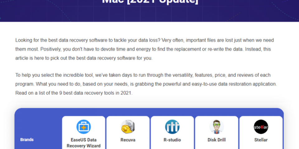 Top 9 Best Data Recovery Software for Windows and Mac