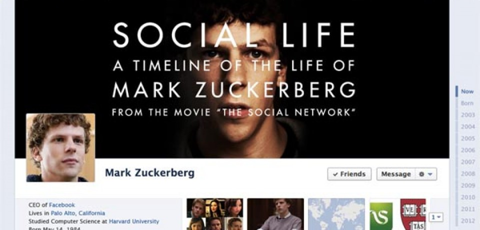 The Facebook Timeline of Mark Zuckerberg
