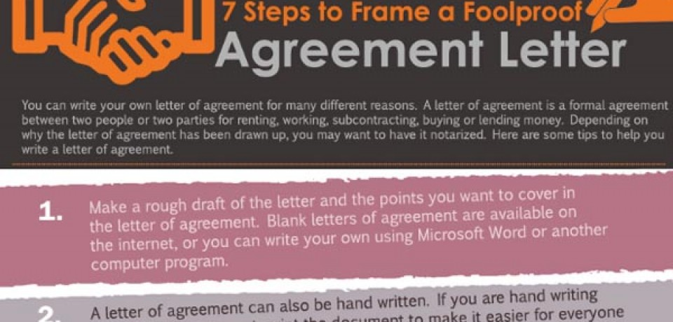 7 Steps to Frame a Foolproof Agreement Letter