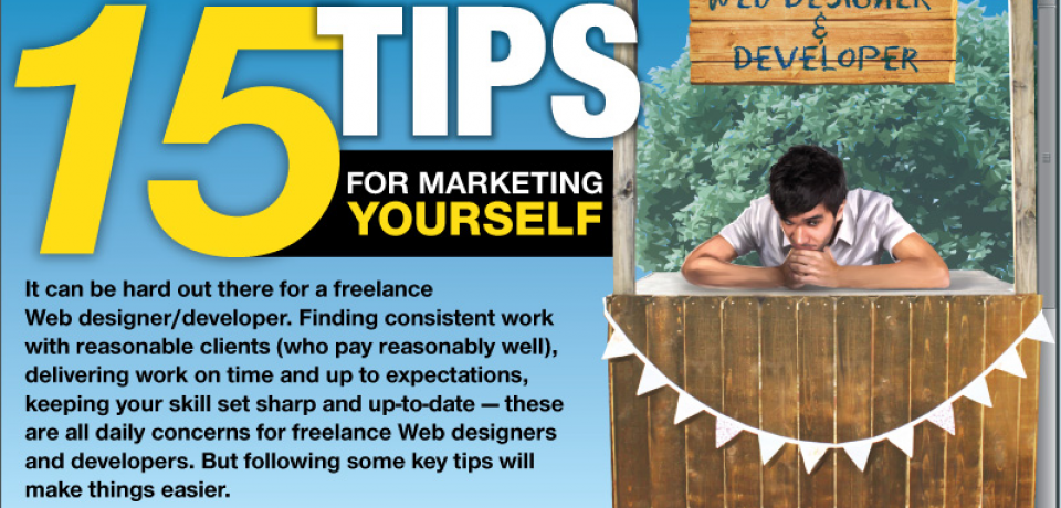 15 Tips for Marketing Yourself as a Web Designer [Infographic]