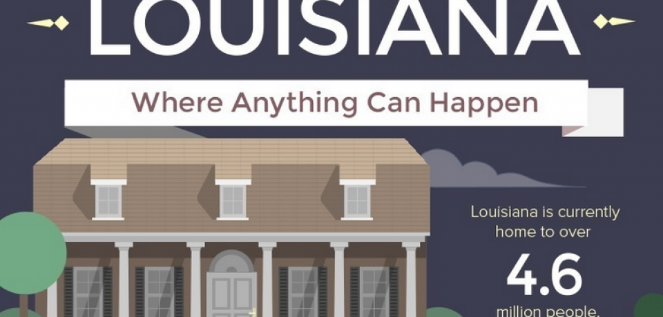 Louisiana – Where Anything Can Happen [Infographic]